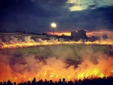 Fans vieren titel Partizan met cirkel van vuur