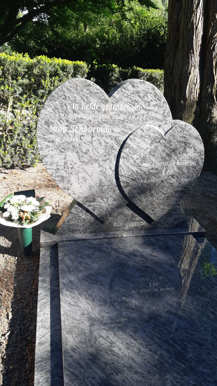 Het graf waar de spullen met grote emotionele waarde zijn gestolen.