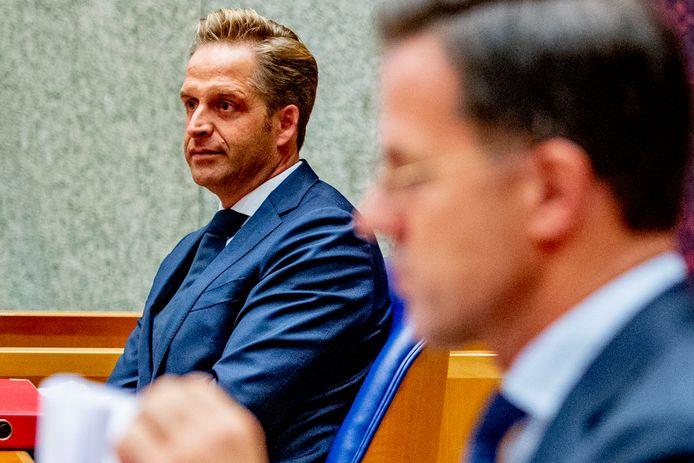 Minister Hugo de Jonge en premier Mark Rutte.