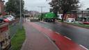Roadblocks en vrachtwagens voor Appelpop.