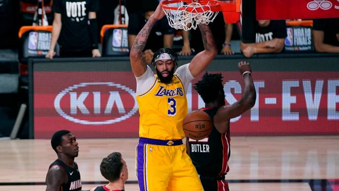 Overtuigende start Lakers in NBA-finale, blessureleed bij Heat