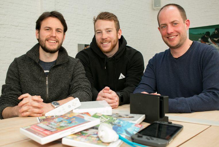 Bavo Vroman, Jeroen Vanpoeyer en Matthias Dewilde.