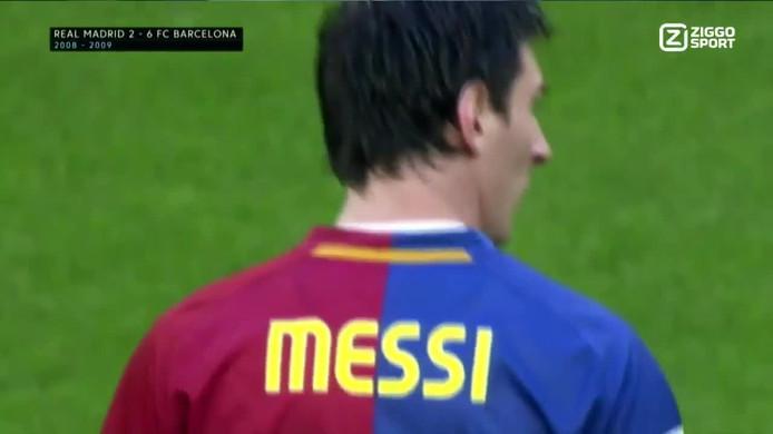 Messi scoorde twee keer tegen Real Madrid
