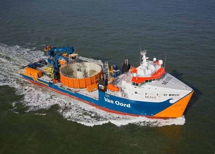 De kabellegger Nexus van bagger- en offshorebedrijf Van Oord