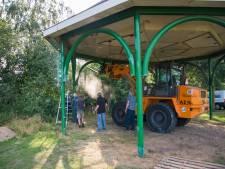 Kiosk in dorpspark Volkel naar nieuwe plek en hersteld in oude glorie
