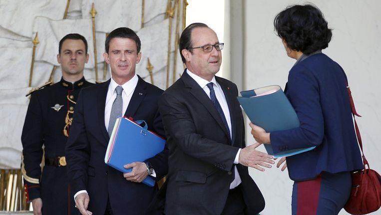 Premier Valls met president Hollande. Beeld Getty