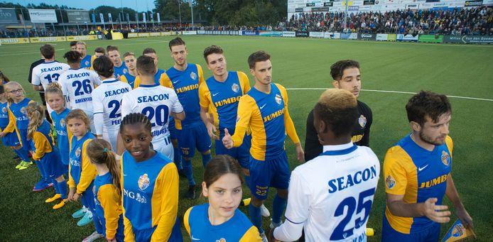 Een van de hoogtepunten van Blauw Geel was de wedstrijd tegen VVV in 2017 in Veghel. Dit soort wedstrijden zorgde voor extra kantine-inkomsten.