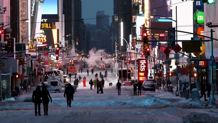 Times Square, New York. Beeld getty