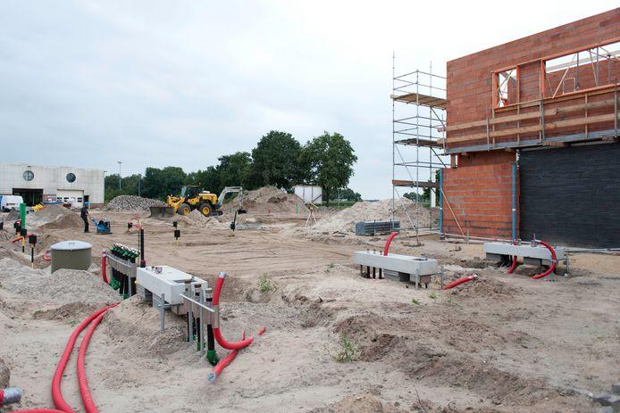 Archiefbeeld van september 2019. De bouw van de Poort van Raalte is in volle gang.