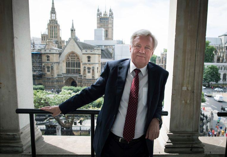 David Davis in het Brits parlement na zijn aftreden als minister voor brexitzaken. Beeld AP