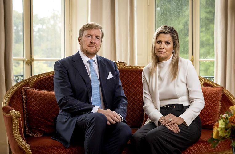 Koning Willem-Alexander en koningin Máxima betuigen spijt in een video. Beeld EPA