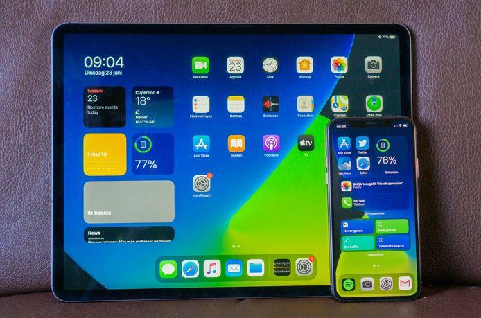 De nieuwe homescreens van de iPad en iPhone