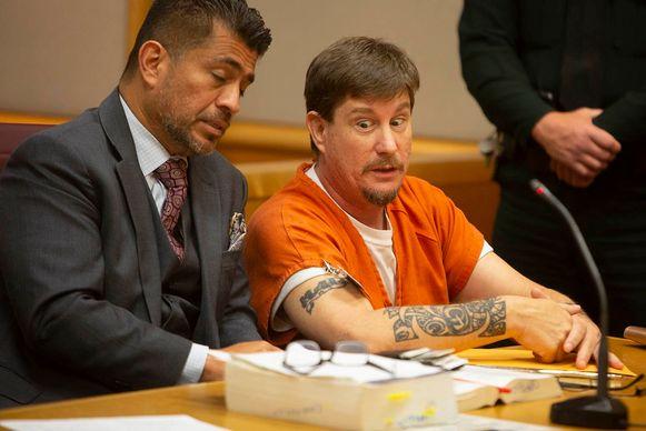Michael Drejka in de rechtbank.