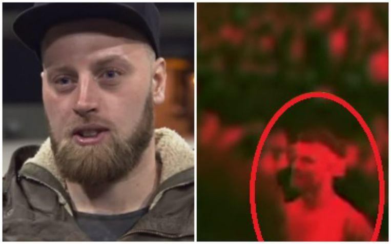 Slachtoffer Toon (links). Rechts een beeld van de dader tijdens het concert.