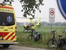 Traumahelikopter opgeroepen voor zwaargewonde fietsster in Gilze