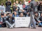 Conferentie bezig, Eritreeërs spannen kort geding aan tegen Veldhoven