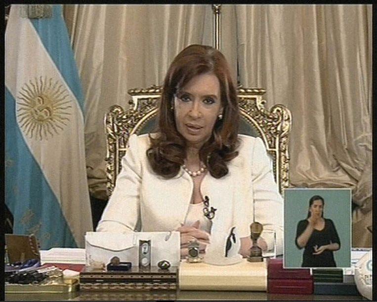 De Argentijnse president Cristina Fernandez de Kirchner. Beeld afp