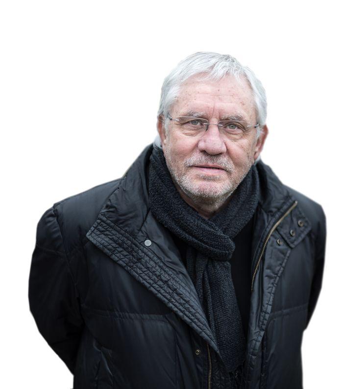 Portret van Jacques Grishaver, voorzitter van het Nederlands Auschwitz comité