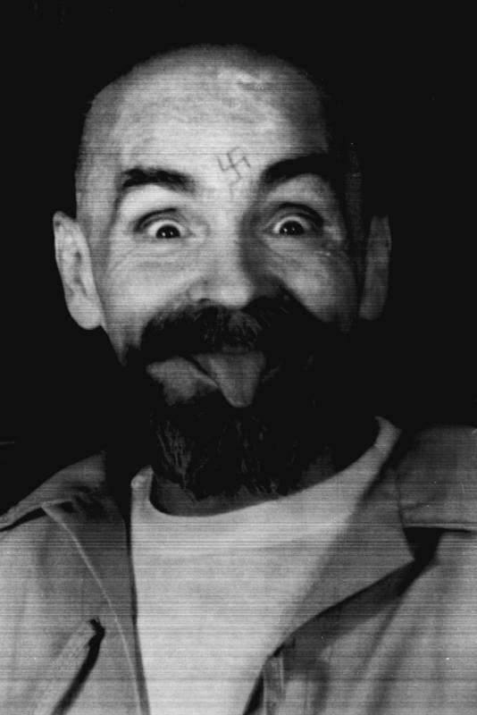 Manson, het gezicht van geweld en waanzin.
