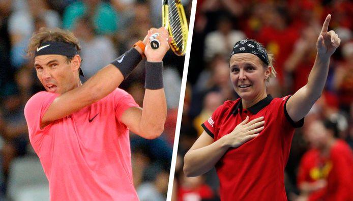 Rafael Nadal et Kirsten Flipkens.