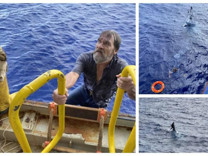 Zestiger na twee dagen op volle zee gered nadat hij zich vastklampte aan omgeslagen motorboot