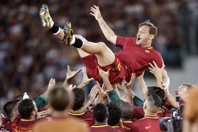 AS Roma nam in stijl afscheid van de 41-jarige Totti.