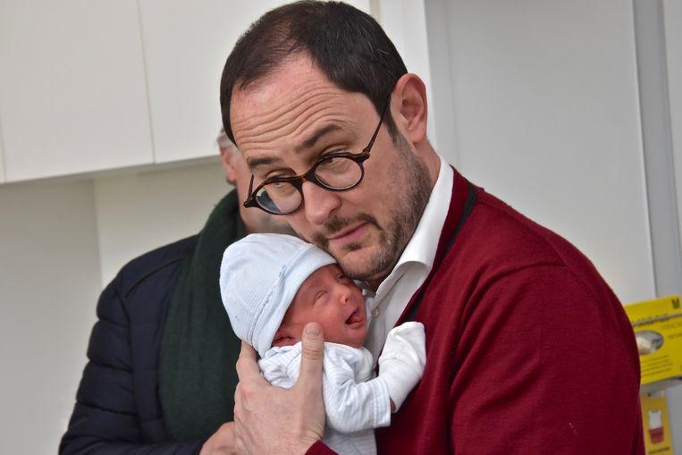 Het klikt al goed tussen Vincent en zoon Scott.