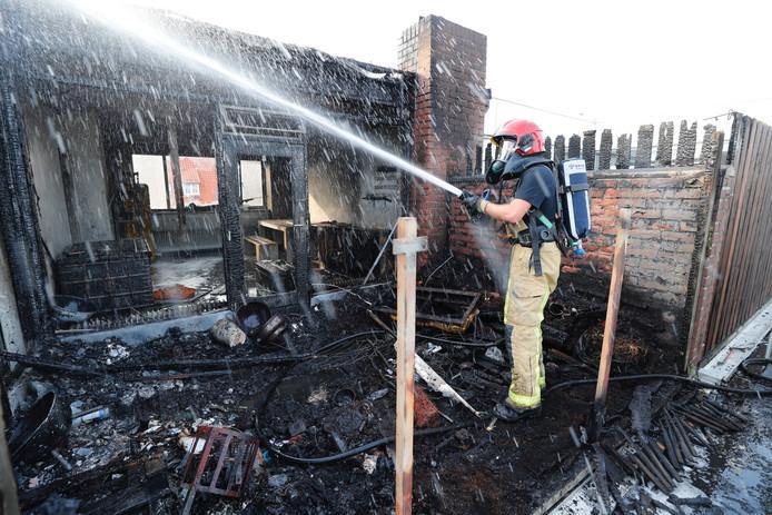 Ontploffing en brand in Eindhoven.
