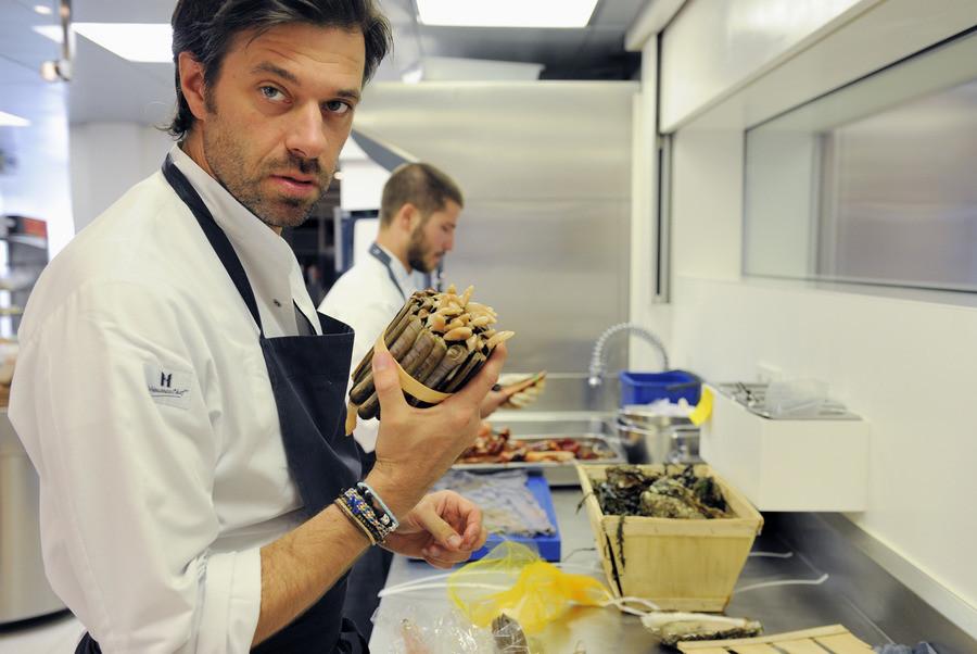 Chef-kok Sergio Herman in de keuken