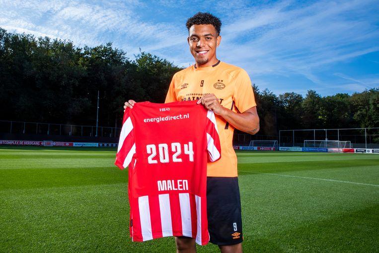 Donyell Malen heeft zijn contract bij PSV verlengd tot 2024.  Beeld BSR Agency