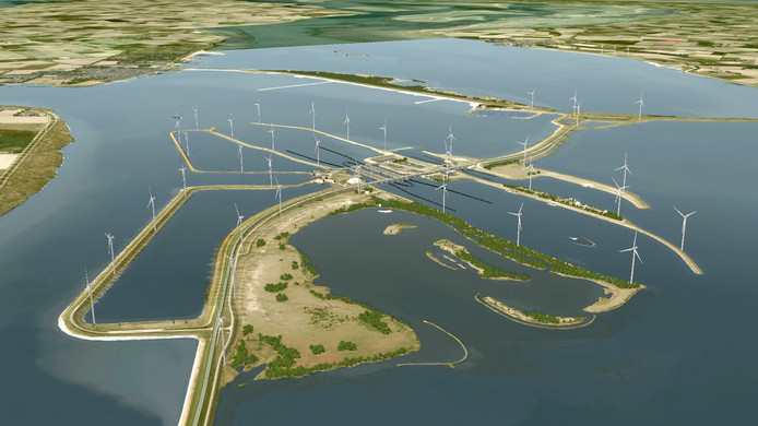 Artist impression van Windpark Krammer