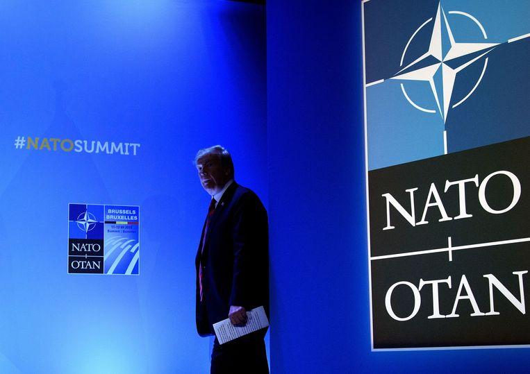 De Amerikaanse president Trump.  Beeld AFP