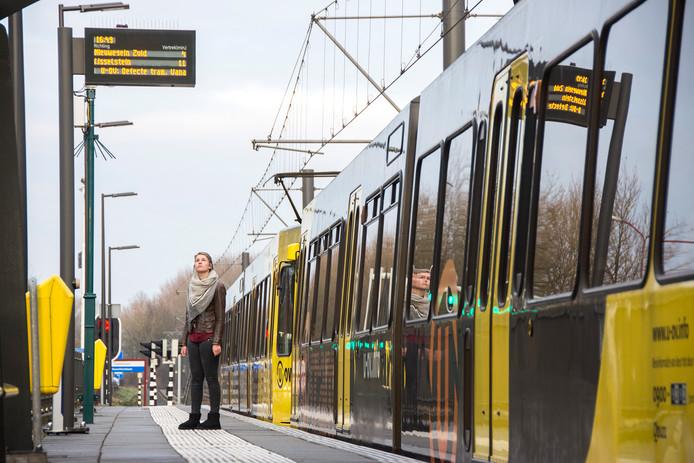 Door een wisselstroring rijden deze ochtend geen trams tussen Utrecht, Nieuwegein en IJsselstein
