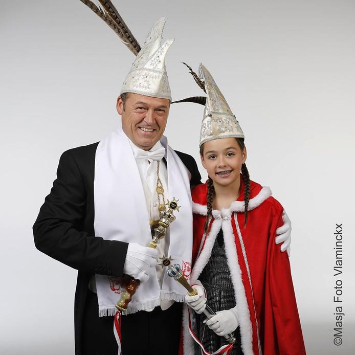 Stadsprins John I en jeugdprinses Lana I van Döllekesgat
