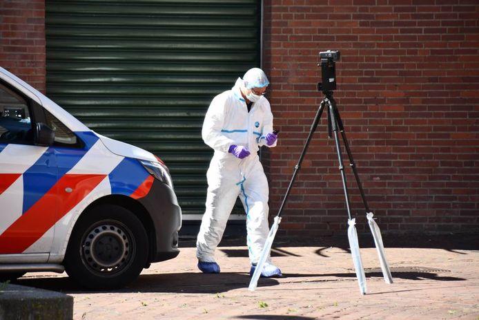 Ook vanmiddag was de politie nog bezig met onderzoek.