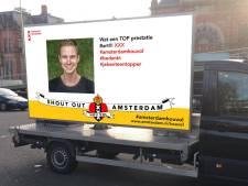 Amsterdam, hou vol! Een verzameling steunberichten rijdt door de stad