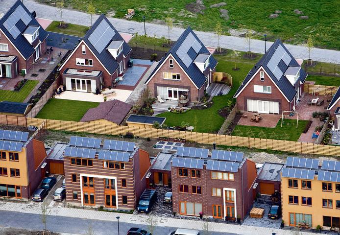 Woonhuizen met zonnepanelen in Heerhugowaard