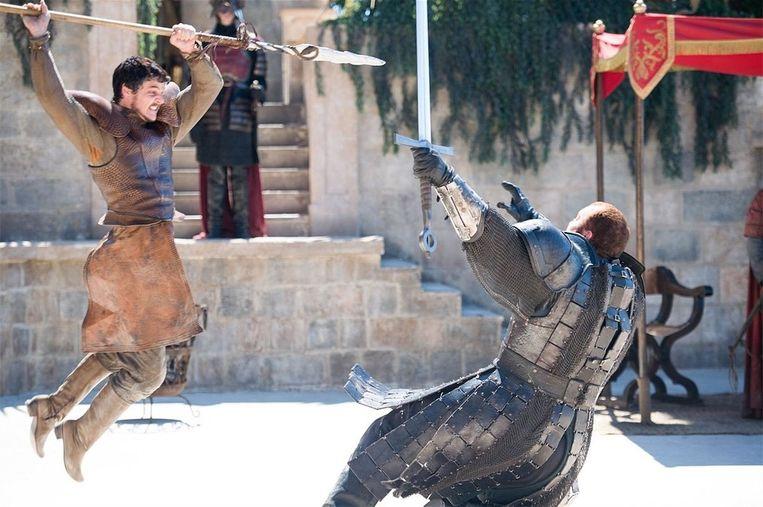 Een vechtscène uit de serie Game of Thrones. Beeld .