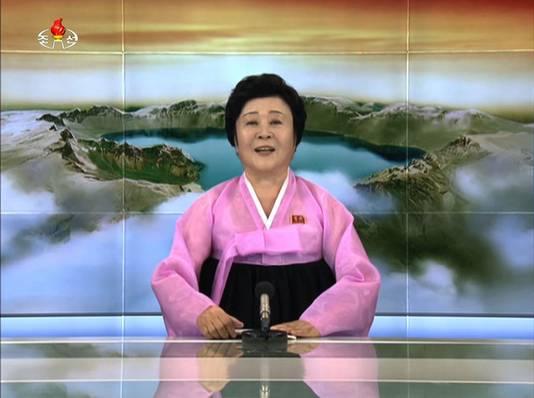De favoriete presentatrice van Noord-Korea, Ri Chun-Hee
