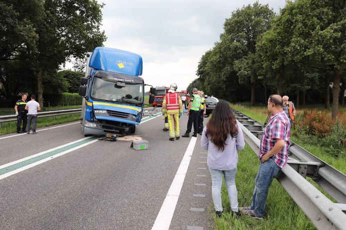 Het ongeluk gebeurde op de N48 bij Balkbrug