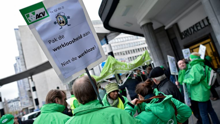 Actievoerders troepten vandaag samen aan het Centraal Station in Brussel.
