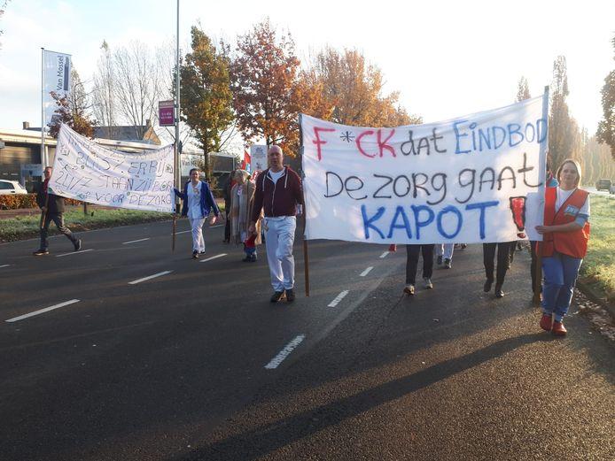 Personeel Amphia loopt protestmars