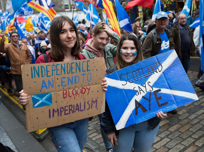 De mars voor onafhankelijkheid vorige week zaterdag.
