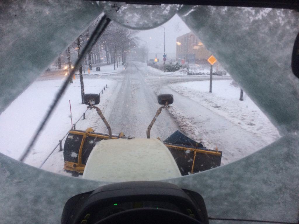 Gladheidsbestrijding uitgevoerd door G&G winterdiensten in Uden.
