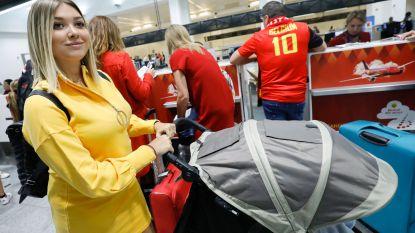 FOTO. Pak familieleden en vrienden stapten vanochtend op het vliegtuig om Rode Duivels naar finale te schreeuwen