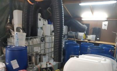 Kijkje in het drugslab in Drempt.