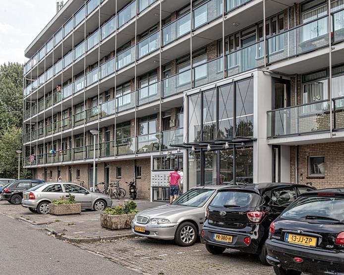 De flat op de Lage Weide in Boskoop.