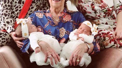 Tweelingzusjes Joolz en Jolie zorgen voor dubbel viergeslacht