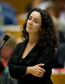 DEN HAAG  Femke Halsema, fractievoorzitter van Groen Links, volgt woensdag de algemene politieke beschouwingen in de Tweede Kamer. ANP ROBERT VOS;Den Haag;Nederland