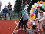 Rolstoelen en rollators op de atletiekbaan in Hulst:  'Ze vinden het fantastisch'